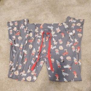 Cynthia Rowley Dachshund Pajama Pants XS
